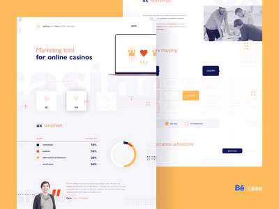 Marketing tool for online casinos - Behance case study admin panel buttons forms tool marketing gambling ux design usability wireframes ux research case study behance style guide dashboard casino online casino