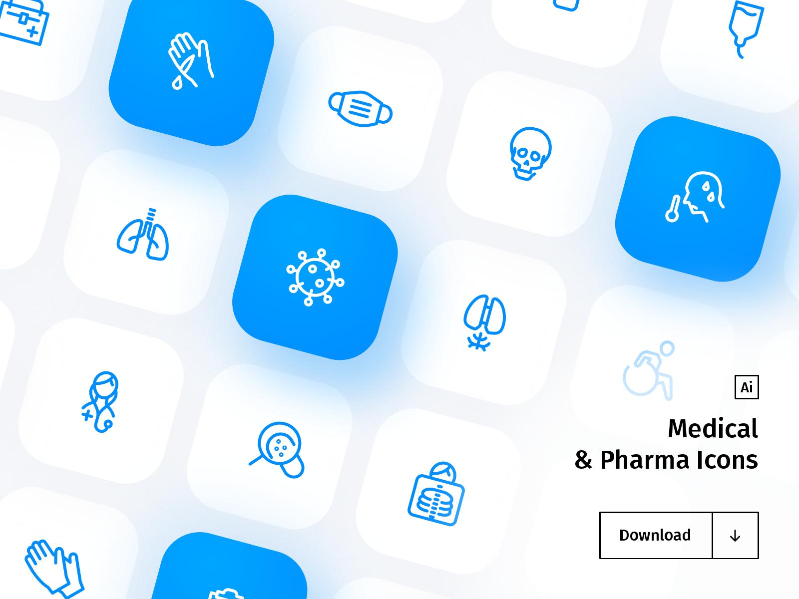 Medical & Pharma Icon Set - Freebie