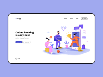 Online Banking - landing page concept design