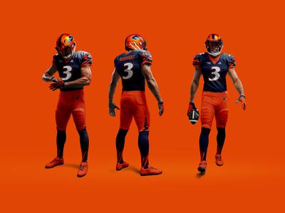 UTSA Football Unis - Orange Chrome