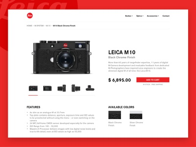 Daily UI #012 - E-Commerce Shop minimal buy camera leica shop ecommerce challenge 012 ui daily dailyui