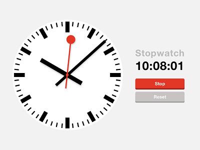 Daily UI #014 - Stopwatch/Countdown mondaine railway minimal swiss countdown stopwatch watch challenge 014 ui daily dailyui