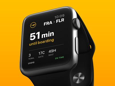 Daily UI #024 - Boarding Pass ticket watch apple flight pass boarding 024 ui daily dailyui