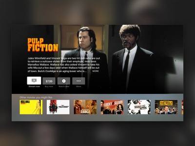Daily UI #025 - TV app streaming movies appletv apple app tv 025 ui daily dailyui