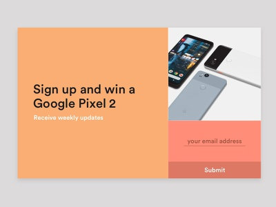Daily UI #026 - Subscribe pastel prize win newsletter subscribe 026 ui daily dailyui