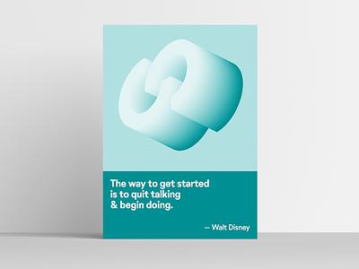 Walt Disney Office Poster typography quote design swiss print poster
