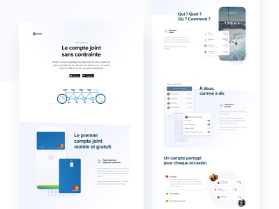 Shared account landing page - Lydia app webdesign landing page fintech lydia