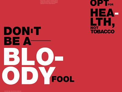 Anti smoking design typography