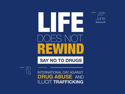 International Day Against Drug Abuse trafficking drug abuse anti tobacco smoking drugs type minimal flat web branding typography design