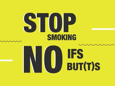 Stop smoking awarenes vector health anti smoking say no socialmedia campaign creative illustrator type clean art lettering smoking minimal flat drugs anti tobacco typography design