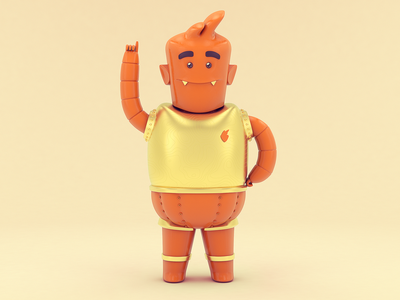 Joe color character cgi design colombia rendering illustration c4d 3d