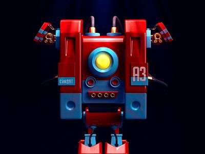 A3 c4d robot cgi machine illustration rendering 3d