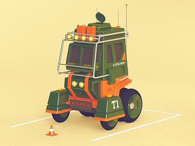 T1 _Explorer illustration cinema 4d truck car cgi rendering 3d c4d