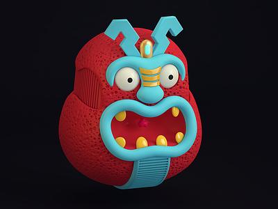 Monster monster cinema 4d cgi rendering illustration c4d 3d