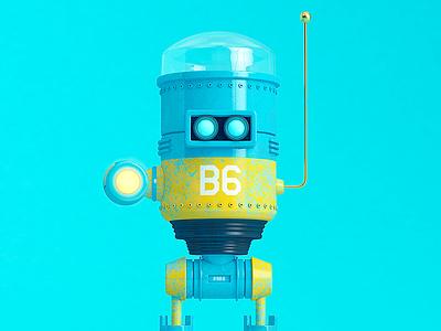 B6 colombia robot cinema 4d cgi rendering illustration c4d 3d