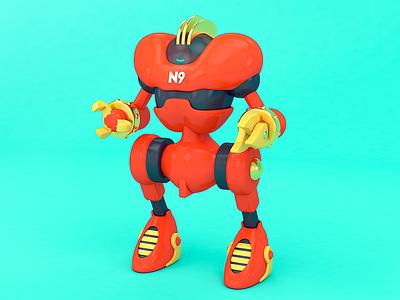 N9 3dillustration 3d art design robot character color cgi cinema 4d rendering c4d illustration 3d