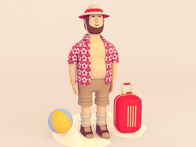 Mr. cgi design 3dillustration color rendering 3d c4d cinema 4d character illustration