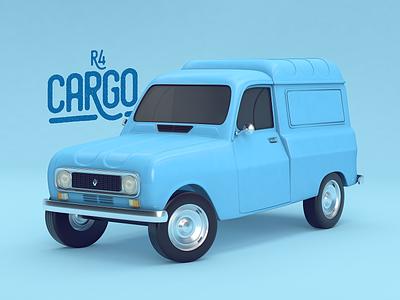 R4 Classic Cargo character car design color colombia cinema 4d rendering illustration c4d 3d