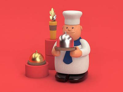 Mr. Cook character cook 3dillustration design color colombia cinema 4d rendering illustration c4d 3d