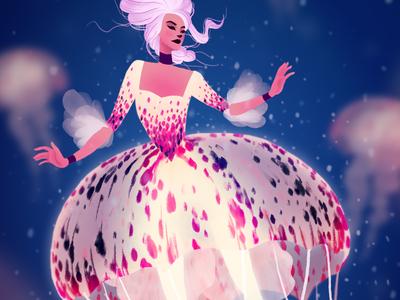Jellyfish Duchess Character Design