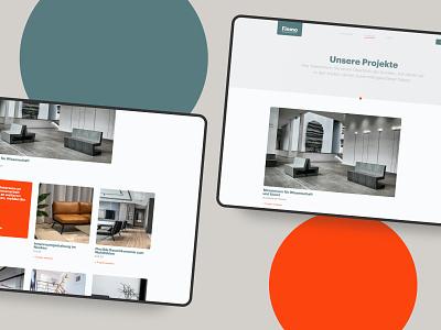 Interior design Website   Projects webdesign architecture typography branding buisness frankfurt design ui website