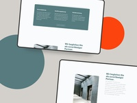 Interior design Website   Service architecture webdesig layout buisness typography frankfurt design website