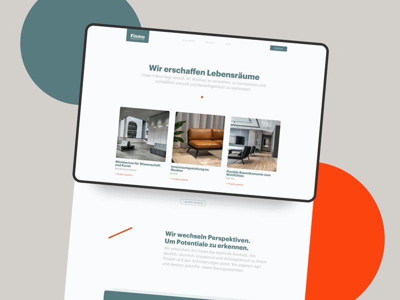 Interior design Website uichallenge architecture layout branding typography frankfurt design website