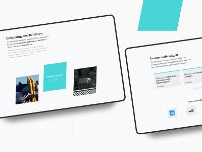 Website concept for an engineer architecture layout buisness ui ux typography frankfurt design uichallenge website