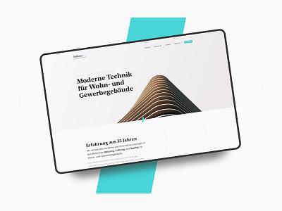 Website concept for an engineer landingpage architecture layout buisness ux typography frankfurt design ui website