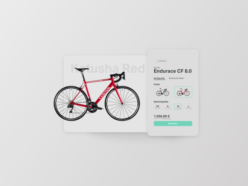 Customize Product bicycle bike website mobile ux card design ecommerce ui