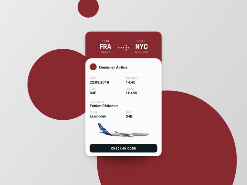 Boarding Pass newyork frankfurt flying pass boardingpass app interface buisness ux ui card design