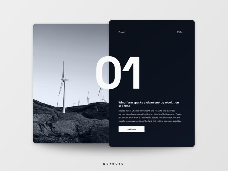 Project Teaser teaser preview project energy enviroment typography card uichallenge website ui