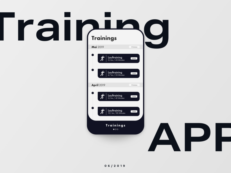 Training App workout mobile ux ui typography product interface running fitness training app