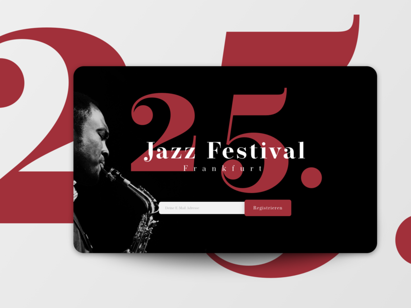 Coming Soon Page typography jazz music sign up mail page comingsoon uichallenge website