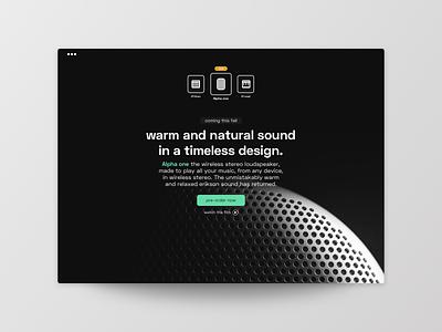 Pre-Order synthesizer new preorder minimalist sound speaker music buisness typography uichallenge frankfurt product ui ux design website