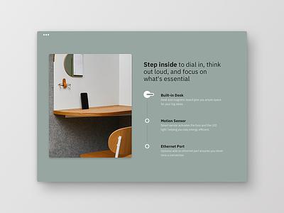 Product Section minimalist simple quiet benefit room focus products layout ecommerce typography buisness frankfurt ux design uichallenge website