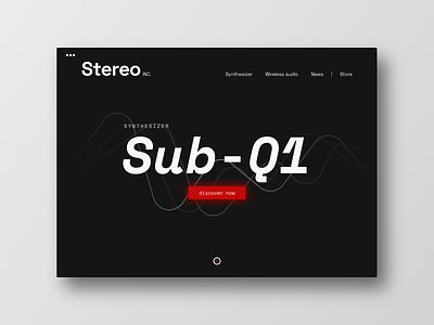 Synthesizer minimalistic homepage black dark minimal landingpage synthesizer music product layout typography frankfurt interface ui ux design uichallenge website