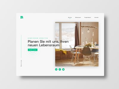 Q1 Architecture service website ui ux frankfurt typography interface webdesign design scandinavian architecture