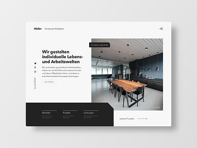 Interior Design Buero landingpage dark minimalist architecture layout frankfurt buisness typography uichallenge design interface ui ux website