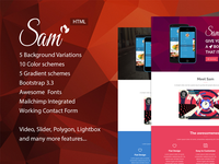 Sam - App Landing Page