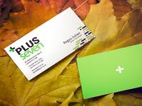 Plus Seven Business Card Design