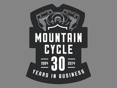 Mountain Cycle Wall Graphic harley-davidson motorcycle wall graphic bike garage sticker mule
