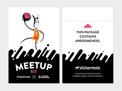 Meetup kit packaging gift card kit stickers meetup sticker mule