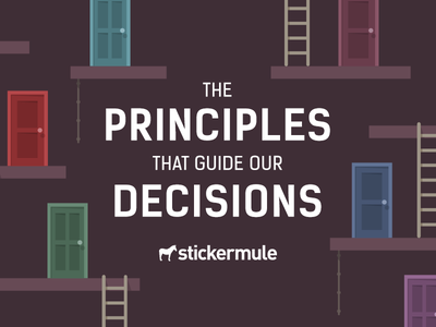 The Principles that Guide Our Decisions ropes ladders doors blog decisions sticker mule