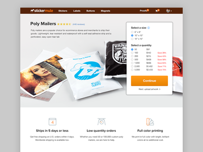 Custom mailers are here! custom mailer sticker mule product page