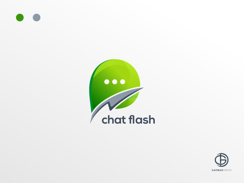 Chat Flash logoinspiration logotranding vector forsale logodesign awesome design awesome branding design gambardrips graphicdesign illustration