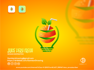 Juice very fresh icon ui logodesign branding gambardrips logoawesome design graphicdesign illustration juice vector