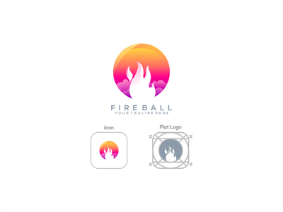 Fire Ball logodesign modaltampang logoawesome design gambardrips branding graphicdesign vector illustration