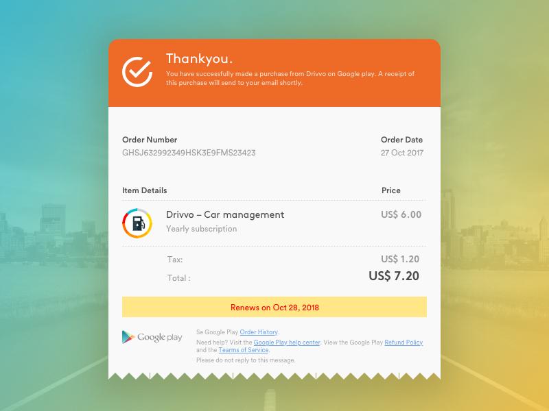 #17 Email Receipt sketch purchasereceipt billreceipt emailreceipt receipt interfacedesign visualdesign ui dailyui