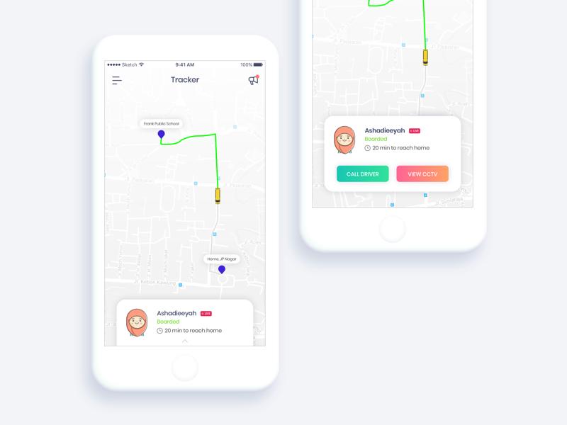 #20 Location Tracker minimalist minimal finder location tracker sketch sketchapp dailyui
